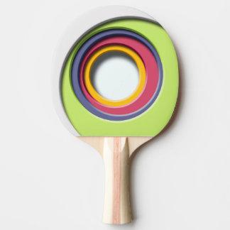 3D, Formas circulares, degradado de color Pala De Tenis De Mesa