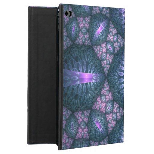 3D Fractal Art Pattern Turquoise Purple Pink Powis iPad Air 2 Case