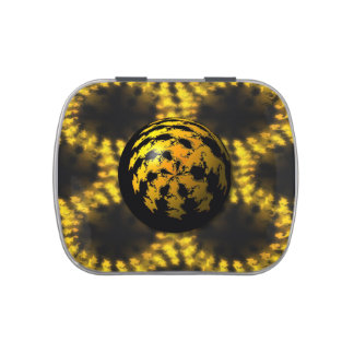 3d Fractal Ball Jelly Belly Candy Tin