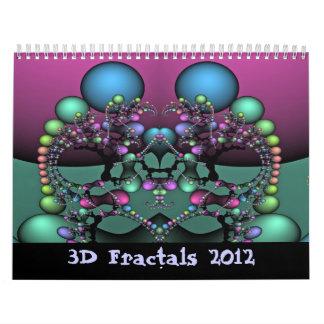 3D fractales 2012 Calendario