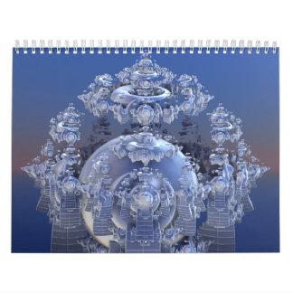 3D Fractals Wall Calendars