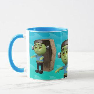 3d Frankenstein Coffin Mug