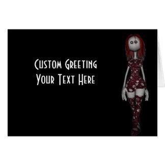 3D Freaky Bonga Doll - Redhead Card