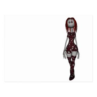 3D Freaky Bonga Doll - Redhead Postcard