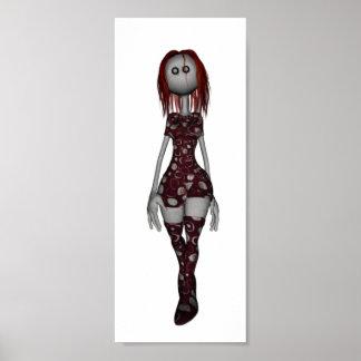 3D Freaky Bonga Doll - Redhead Poster
