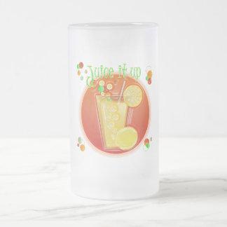3D Fruit Drink Frosted Mug (lime green)