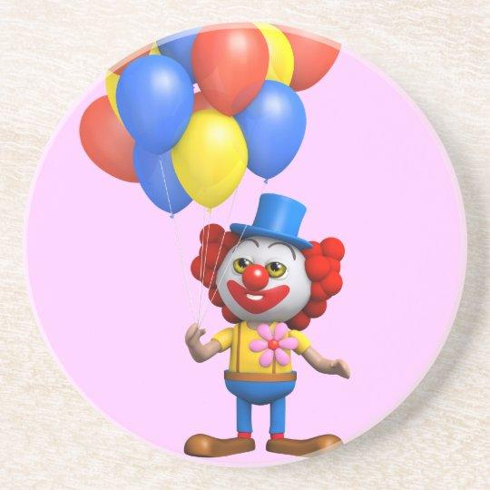 3d Funny Clown Balloons Coaster