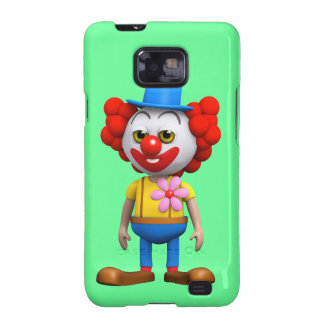 3d Funny Clown Galaxy S2 Covers