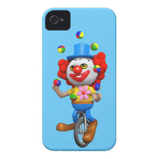3d Funny Clown Juggles on Unicycle Case-Mate iPhone 4 Case