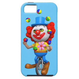 3d Funny Clown Juggles on Unicycle iPhone 5 Case