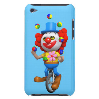 3d Funny Clown Juggles on Unicycle iPod Touch Case-Mate Case