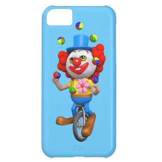 3d Funny Clown Juggles on Unicycle iPhone 5C Case