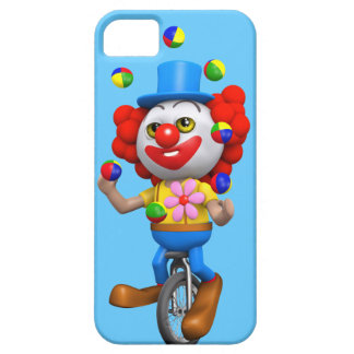 3d Funny Clown Juggles on Unicycle iPhone 5 Cover