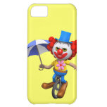 3d Funny Clown on Unicycle with Umbrella iPhone 5C Cover