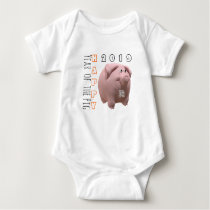 3D Funny Pig Chinese New Year 2019 Baby B 2 Baby Bodysuit