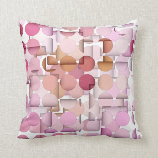 3D FX Pastel Pink Polka Dot Pattern Reversible Pillow