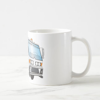 3d Garbage Truck Blue and White  Cab Coffee Mug
