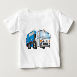 3d Garbage Truck Blue and White  Cab Shirt
