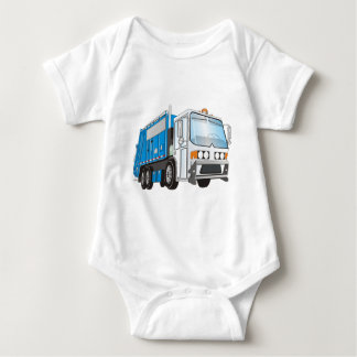 3d Garbage Truck Blue and White  Cab T-shirt