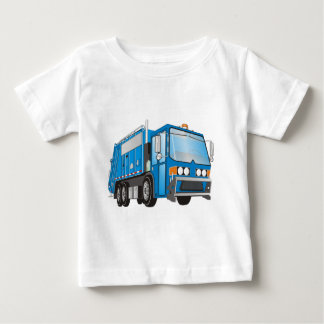 3d Garbage Truck Blue Baby T-Shirt