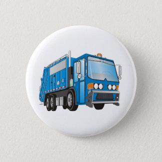 3d Garbage Truck Blue Button