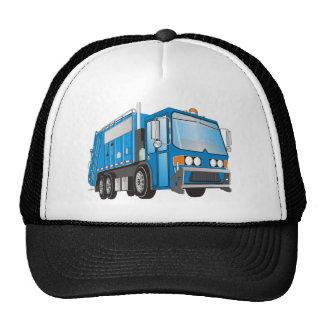 3d Garbage Truck Blue Trucker Hat