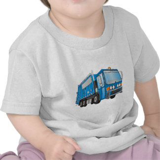 3d Garbage Truck Blue T Shirts