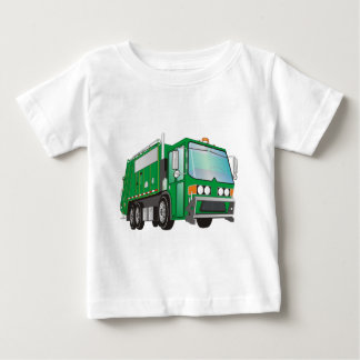 3d Garbage Truck Green Baby T-Shirt