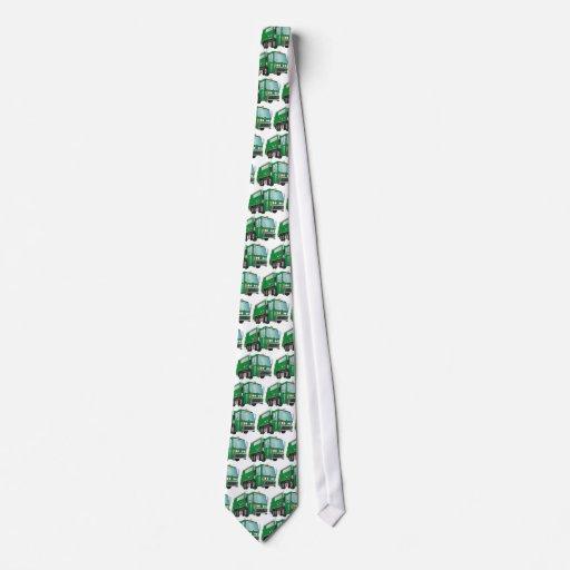 3d Garbage Truck Green Custom Tie