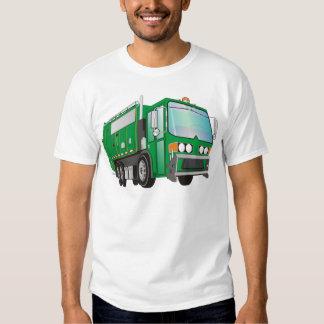 3d Garbage Truck Green Shirt