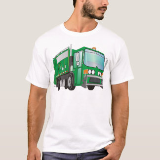 3d Garbage Truck Green T-Shirt