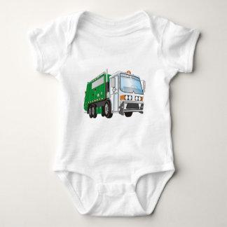 3d Garbage Truck Green White Cab Shirt