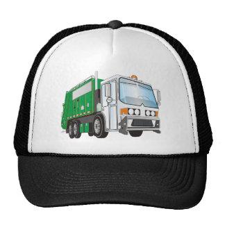 3d Garbage Truck Green White Cab Trucker Hat