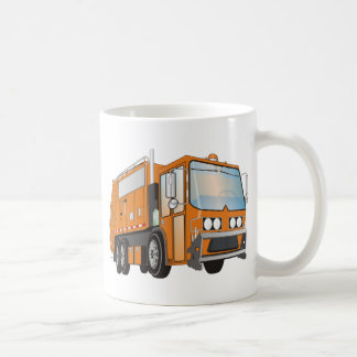 3d Garbage Truck Orange Coffee Mug