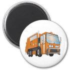 3d Garbage Truck Orange Magnet