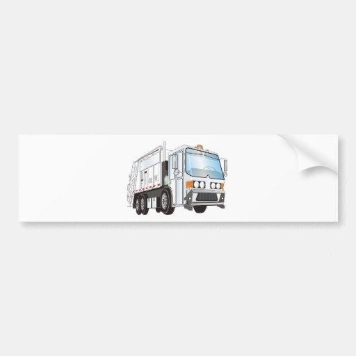 3d Garbage Truck White Bumper Sticker