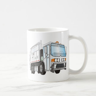 3d Garbage Truck White Coffee Mug