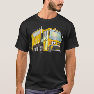 3d Garbage Truck Yellow T-Shirt