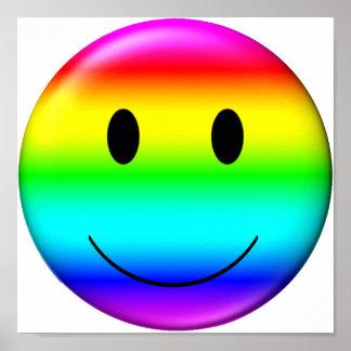 3D Gay Pride Smiley Poster