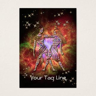 3D Gemini - Zodiac Sign - Astrological Sign Business Card