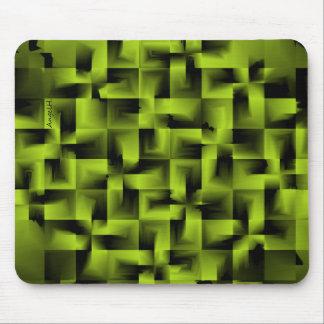 3D Geometrics - Mossy Green Mouse Pad