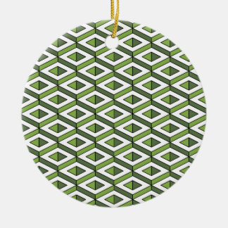3d geometry greenery and kale ceramic ornament