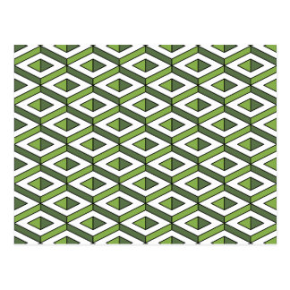 3d geometry greenery and kale postcard