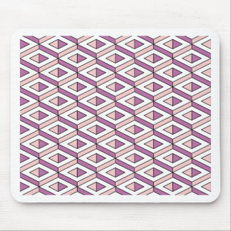 3d geometry rose quartz mouse pad