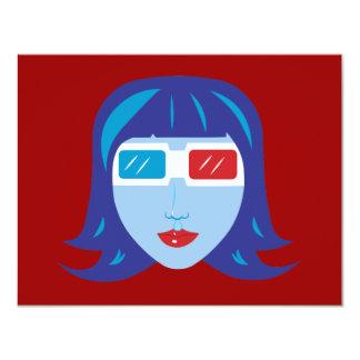 3D Girl Card