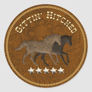 3D Gittin' Hitched Stickers