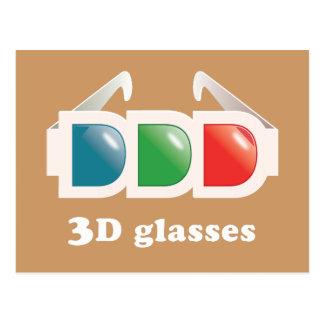 3D Glasses Postcard