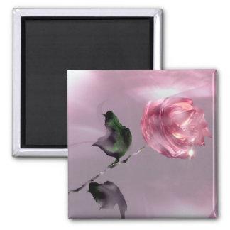 3D Glistening Rose Magnet