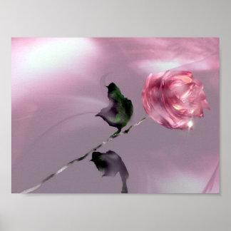 3D Glistening Rose Poster
