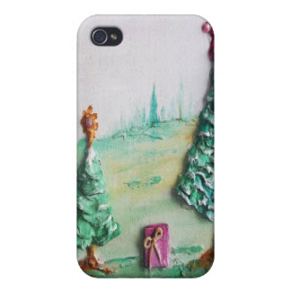 3D GLITTER L@@K of Christmas Trees and Gifts iPhone 4/4S Cover